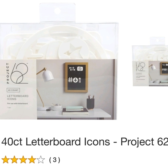 40 ct NEW Project 62 Letterboard Icons